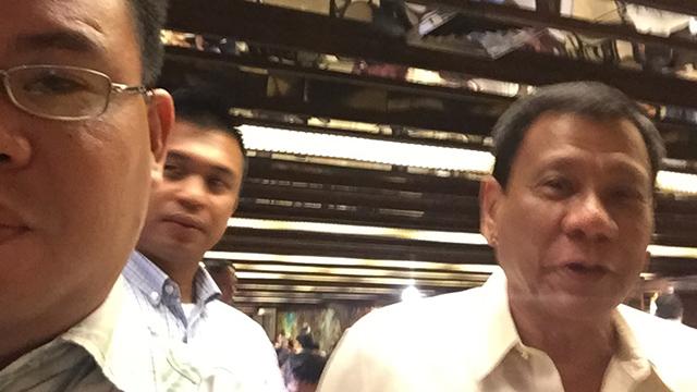 SELFIE. Attorney Lloyd del Socorro with President Duterte. Photo courtesy of Lloyd del Socorro