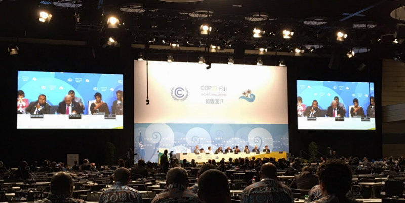SUMMIT. The 23rd UN Climate Change Conference (COP23) concludes on Saturday morning in Bonn, Germany. Photo courtesy of UN Framework Convention on Climate Change