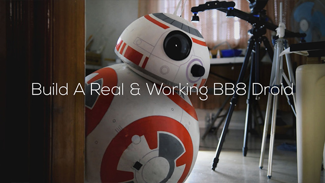 BB-8. As a Star Wars fan, Angelo went as far as to making this robot. Photo from Angelo Casimiro