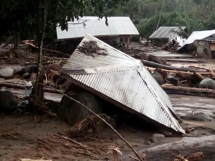 WIPED OUT. A flashflood 'wipes out' a farmland community in Lanao del Norte. Photo from Province of Lanao del Norte Facebook page