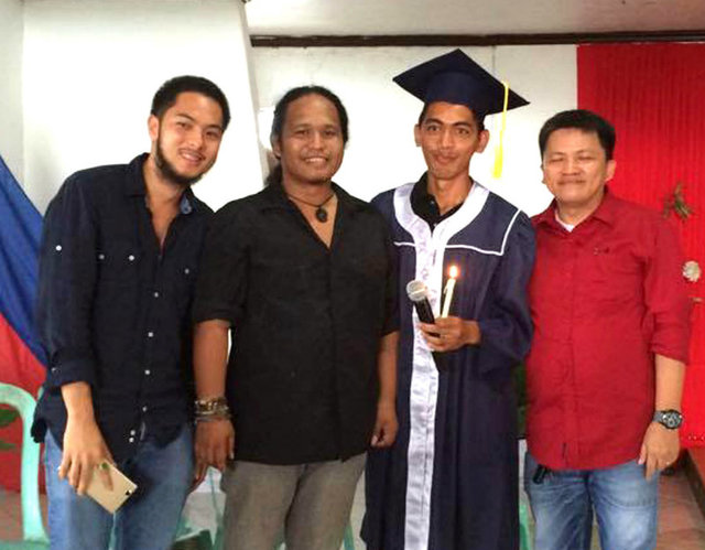 Florante Talampas during his graduation at the Teens Mission International in Buenavista, Agusan del Norte.