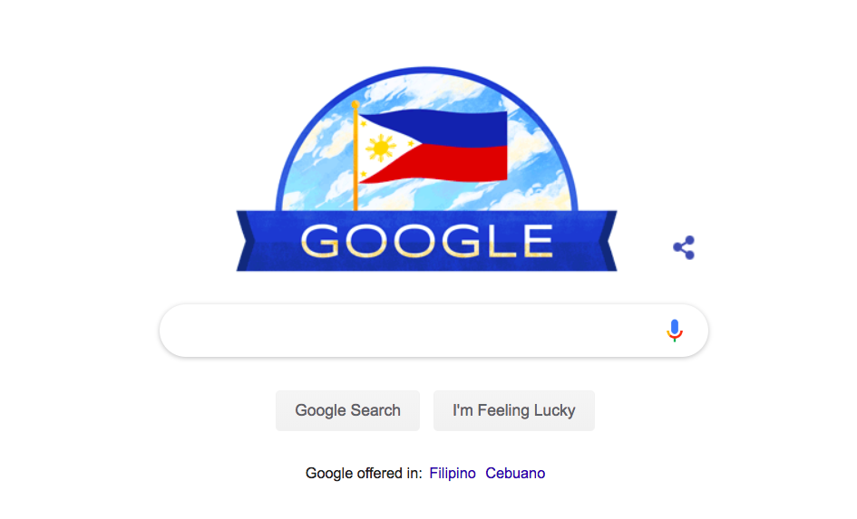 LOOK: Google Doodle for Philippine Independence Day