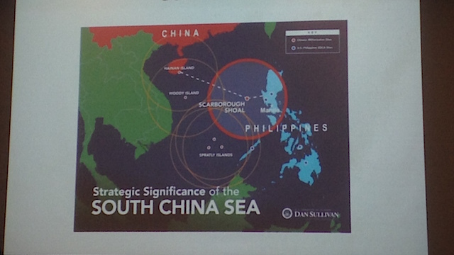 'MILITARY TRIANGLE.' The Scarborough Shoal is crucial in the Philippines' maritime dispute with China.
