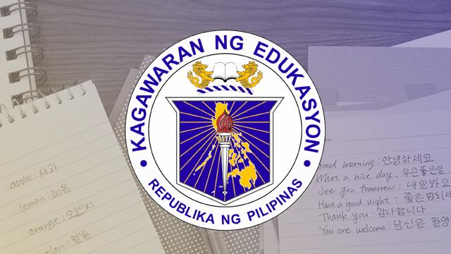 Korean Won T Replace Filipino Subject Says DepEd