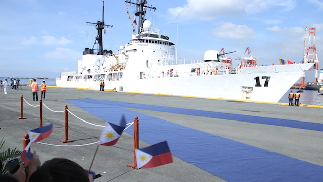 WARSHIP FROM US. BRP Andres Bonifacio arrives on December 9, 2016. PH Navy photo