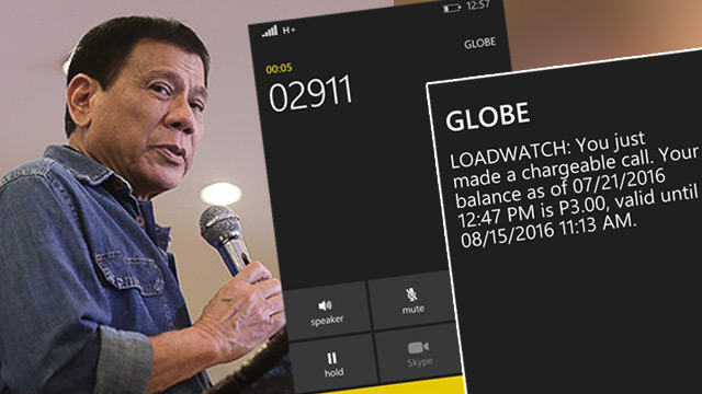 911 TEST. The emergency hotline, which is proven to be effective in Davao City in ensuring the speedy response of police, firefighters, and medical personnel during emergencies, will be launched nationally in August