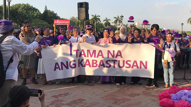 WOMEN'S RIGHTS. Women's groups slam misogyny on International Women's Day. Photo by Sofia Virtudes