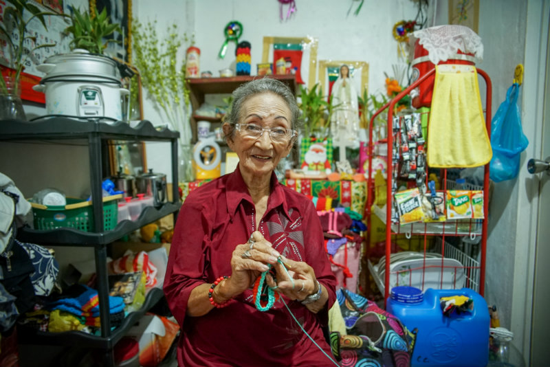 HOME SWEET HOME. Nanay Ely lives alone in a 15-square-meter apartment