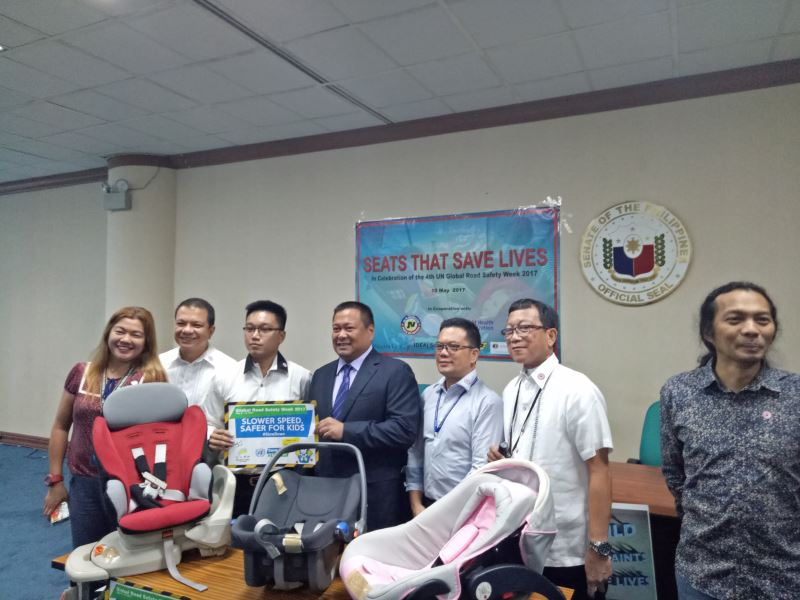 CHILD RESTRAINTS. One of the proposed laws of Senator JV Ejercito is the Child Safety in Motor Vehicle Act of 2017