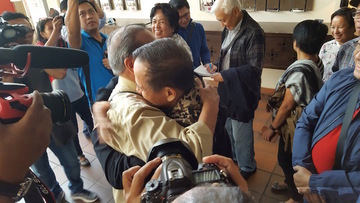 HISTORIC. CPP top leaders Joma Sison and Benito Tiamzon meet again after 30 years.