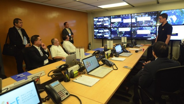 DASHBOARD. Jerome Zayas of EMI briefs PDRF Board Members of the features of the EMOPS platform. Photo credit PDRF