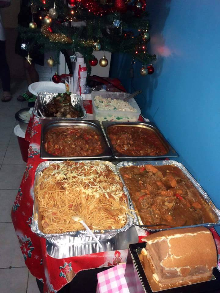 TASTE OF HOME. An OFW Christmas party isn't complete without good food to remind them of home.