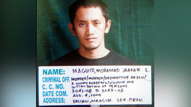 PRO-ISIS LEADER. Photo shows an old mug shot of Mohammad Jaafar Maguid, the slain leader of local terror group Ansar Khalifa Philippines, who worked with foreign terrorists. File photo from the Sarangani Information Office