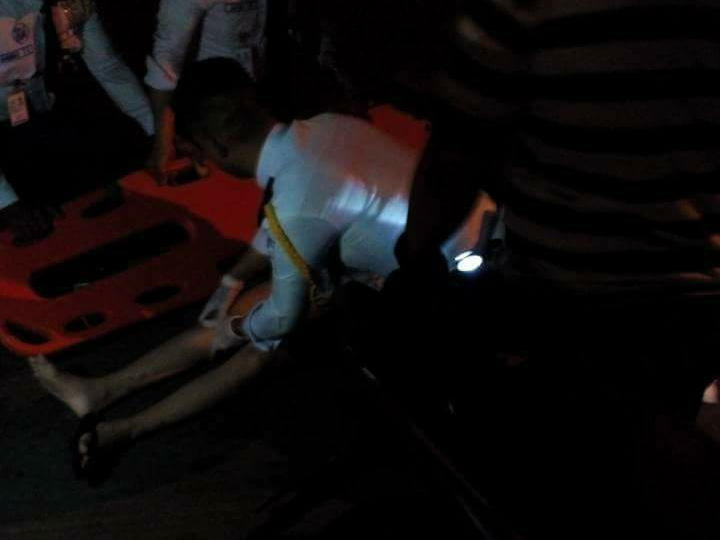 A motorist was left unconscious after hitting his head from the crash last September 17 at the Ortigas Avenue Extension. Photo from R.A.C.E.R. Facebook Group