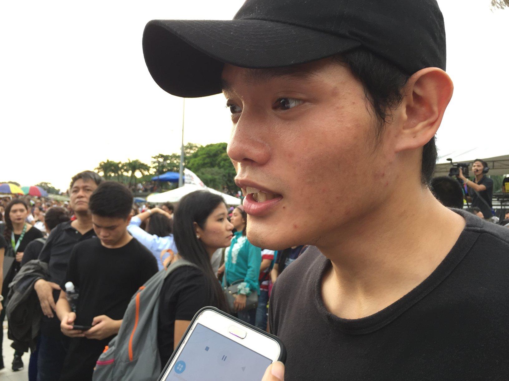 Seve Carlos, a sophomore student at Ateneo de Manila University