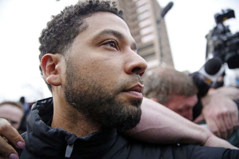INDICTED. Jussie Smollett has been charged with 16 felony counts. Photo by Nuccio Dinuzzo/Getty Images North America/AFP