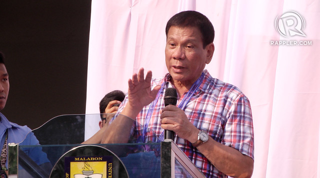 PEACE PROCESS. President Rodrigo Duterte calls for support for peace talks with communist rebels. Rappler file photo