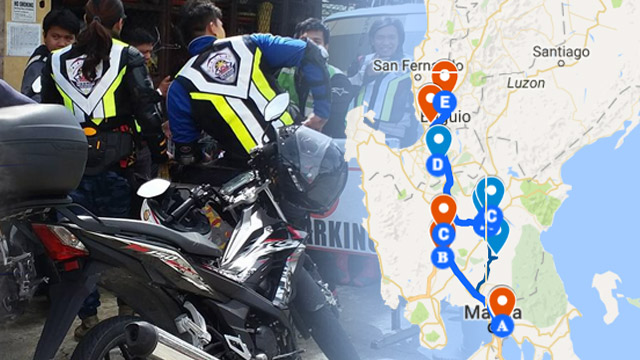RAPID ASSESSMENT. A team of 30 private motorcycle riders head to areas hit by Typhoon Lawin to conduct rapid assessment of the road network. Photo from OCD CAR