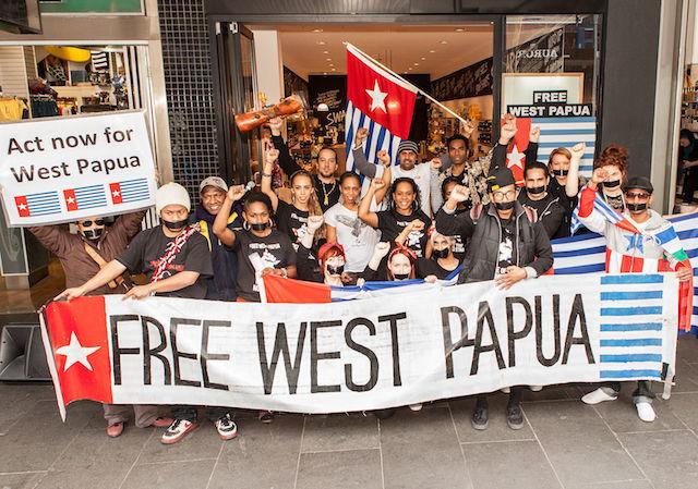 Warga Papua Demo di Melbroune Minta Merdeka