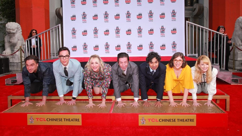 GOODBYE. The 'Big Bang Theory' cast imprint their hands at Hollywood's TCL Chinese Theatre before their final season. Photo by Rich Furry/Getty Images North America/AFP