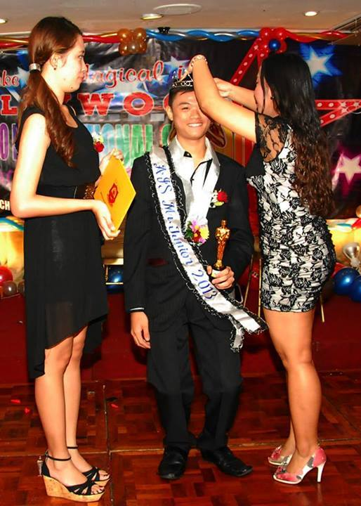 GREAT PERSONALITY. Daniel won Mr. Junior Prom 2013 at his high school prom night. Photo from Daniel's Facebook page
