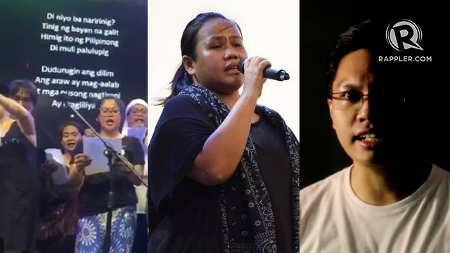 SONGS OF PROTEST. Some Filipinos use their creative expression to join the nationwide activities marking the 45th anniversary of the declaration of Martial Law on September 21, 2017.