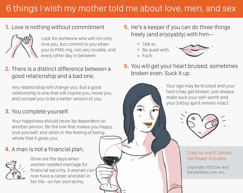 DASH of SAS: 6 things I wish mother told me about love, men, and sex