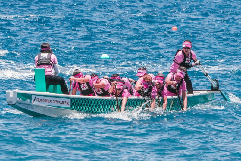 IN ACTION. The Cebu Pink Paddlers in one of its international dragon boat races. Photo from the Cebu Pink Paddlers Dragonboat Team Facebook page.