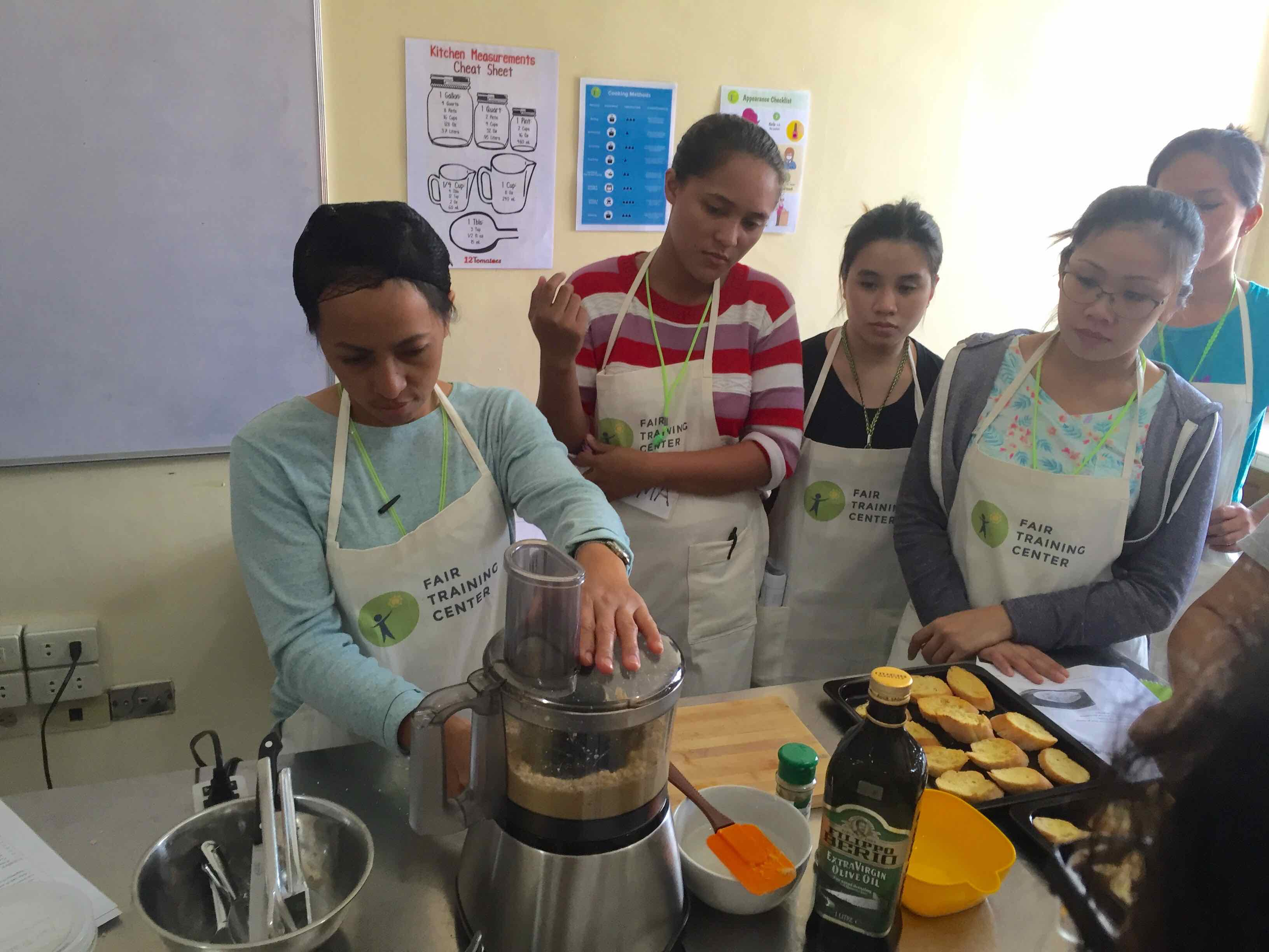 READY FOR TAKE OFF. From learning how to cook to knowing their rights, the Fair Training Center makes sure that aspiring domestic workers are fully prepared for life abroad. Photo from the Fair Training Center