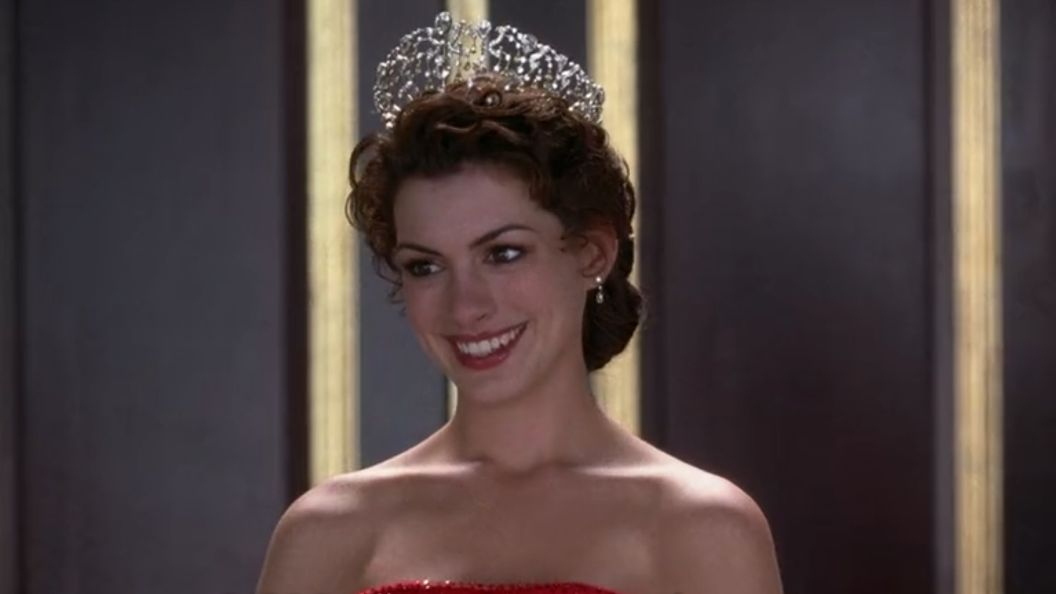 QUEEN OF GENOVIA. Anne Hathaway confirms that the script for 'Princess Diaries 3' has been completed. Screenshot from Netflix
