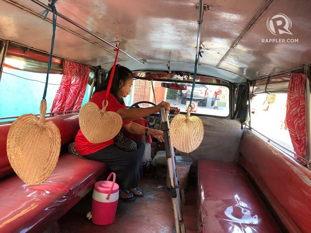 BEATING THE HEAT. Hand fans are seen hanging from the ceiling of Rene's jeepney.