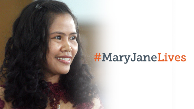 SAVED FROM DEATH ROW. The #MaryJaneLives hashtag trends on Twitter as news of her reprieve breaks. Photo from EPA