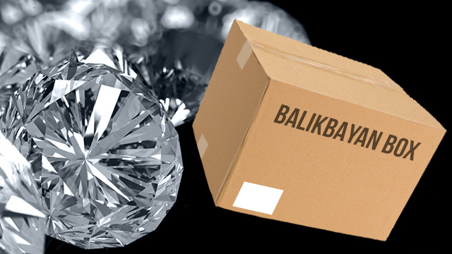 At least 22 pieces of allegedly stolen diamonds were found inside a balikbayan box.