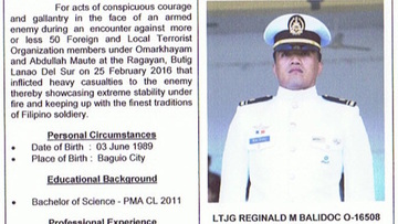 NAVY ELITE OFFICER. LtJg Reginald Balidoc