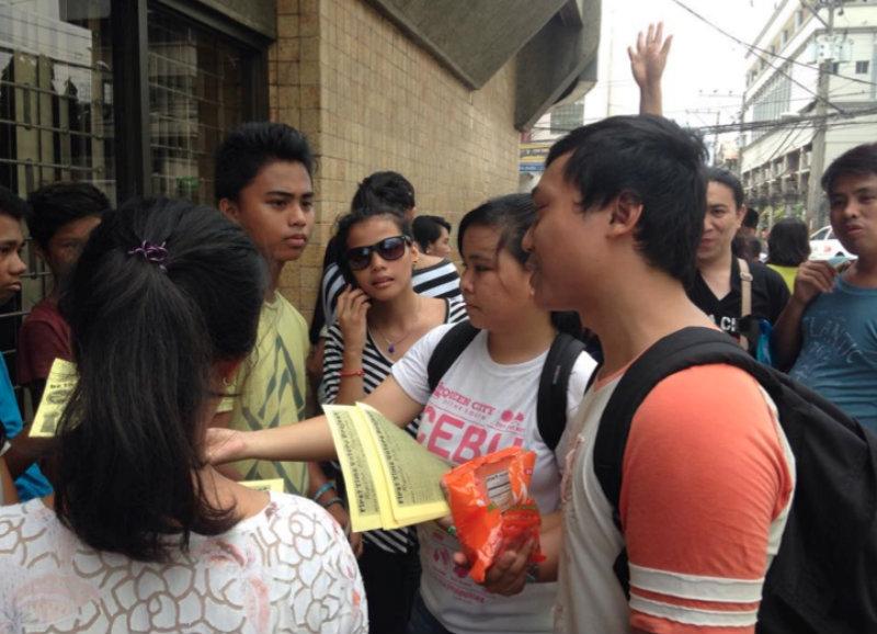 CHANGE. Youth groups urge the Filipino youth to register for the Sangguniang Kabataan