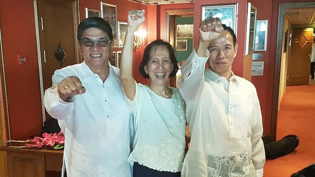 FRIENDS. Retired General Torralba was the spy assigned to follow the Tiamzon couple in the '80s