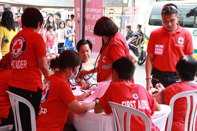 ALL GEARED UP. The Philippine Red Cross has prepared 130 staff and volunteers to ensure security and provide medical help to the public this coming Undas. Photo courtesy of the Philippine Red Cross