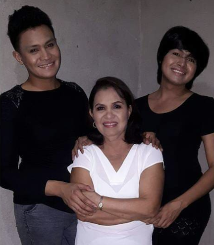 PROUD MOTHER. Two of the 5 Asusano brothers are gay. Dyosa credits her mother for giving them the courage to come out.