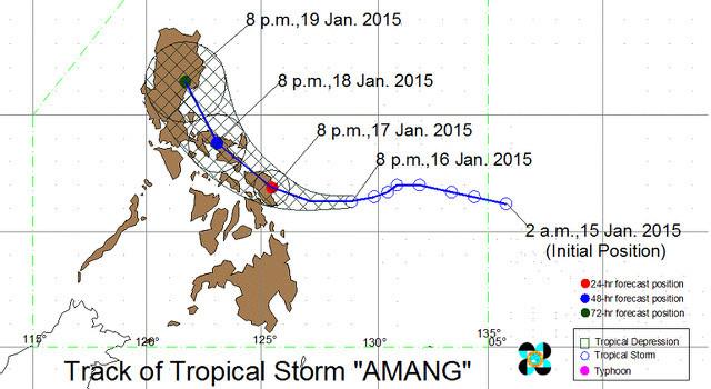 Situation Map over Samar island: Northern Samar, Samar & Eastern Samar