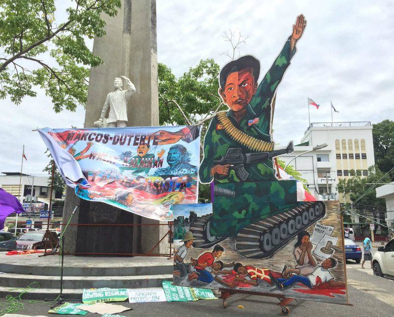 CDO EFFIGY. Protesters in Cagayan de Oro display the effigy to be burned during the rally on Friday, September 21, 2018. Photo by Kaye Quiblat/Rappler
