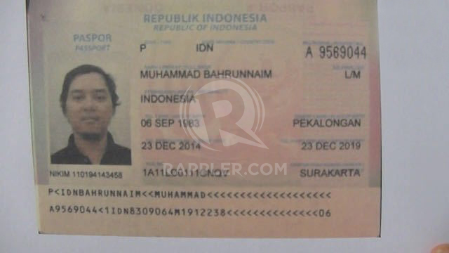 ORGANIZER. Bahrum Naim is the man alleged to be behind the terrorist attacks in Jakarta. Sourced by Rappler