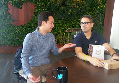 Ken Villa (L) and Jojo Antonio, both working for Twitter in Silicon Valley, shares advice for Filipinos looking to join the tech industry. Photo by Carissa Villacorta