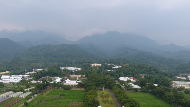 UNIVERSITY. Haze seen settling over the hills near Visayas State University in Baybay, Leyte. Photo by Jed Cortes/Amaranth