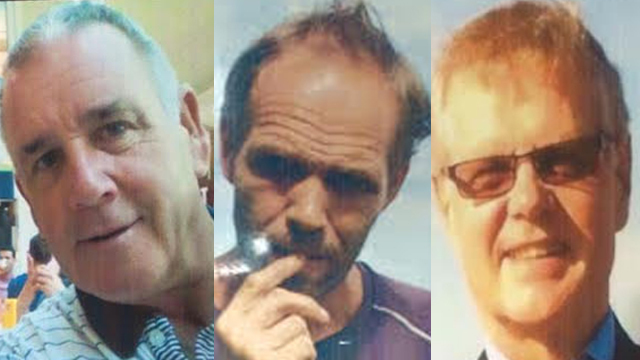 ABDUCTED. (Left to right) Robert Hall, Kjartan Sekkingstad, and John Ridsdel are among the 4 people abducted from a resort in Samal Island, Davao del Norte, on September 21, 2015. Photos from the PNP
