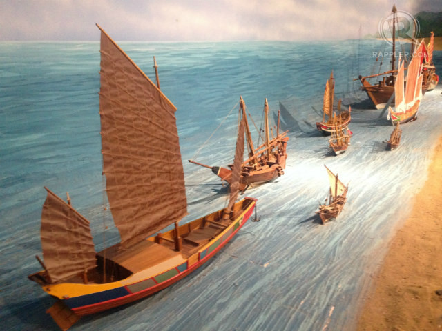 'MARITIME SILK ROAD.' A diorama at the Quanzhou Maritime Museum in Fujian, China, depicts part of the ancient 'maritime silk road' that includes the disputed South China Sea. Photo by Paterno Esmaquel II/Rappler