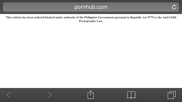 technology news porn websites blocked philippines