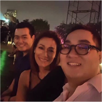 Ruby Gan with her two sons