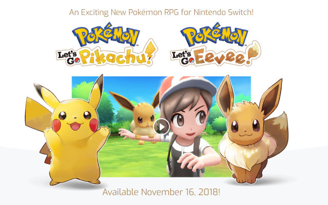 New Pokémon game coming to Nintendo Switch in November 2018