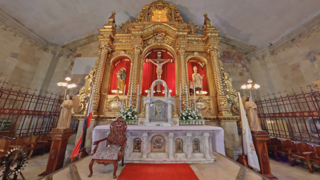 VISITA IGLESIA. Santo Tomas de Villanueva Church in Miagao, Iloilo, is one of the churches featured in Rappler's Virtual Visita Iglesia this year. Screen grab from 360-degree video by Fung Yu