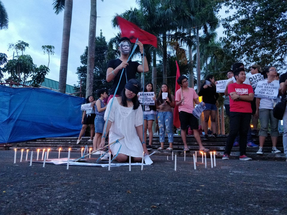 END TYRANNY. UPLB students urge the public to resist the tyranny of the Duterte administration. Photo by Dyl Dalas